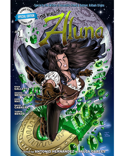 Aluna: The Fire Within Issue # 1 Cover